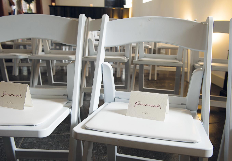 Trouwdag PJA Gereserveerd stoel kaartjes