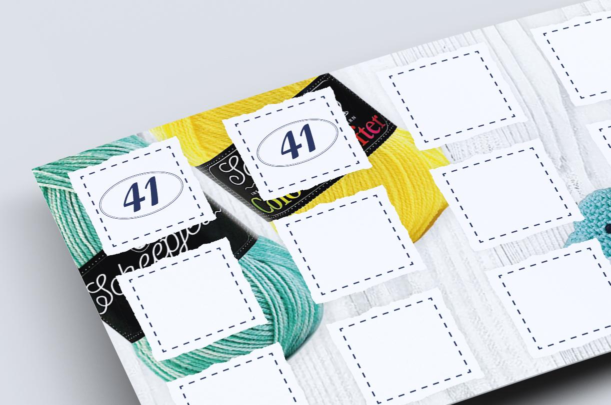 Creahuys 41 spaarkaart met stempels