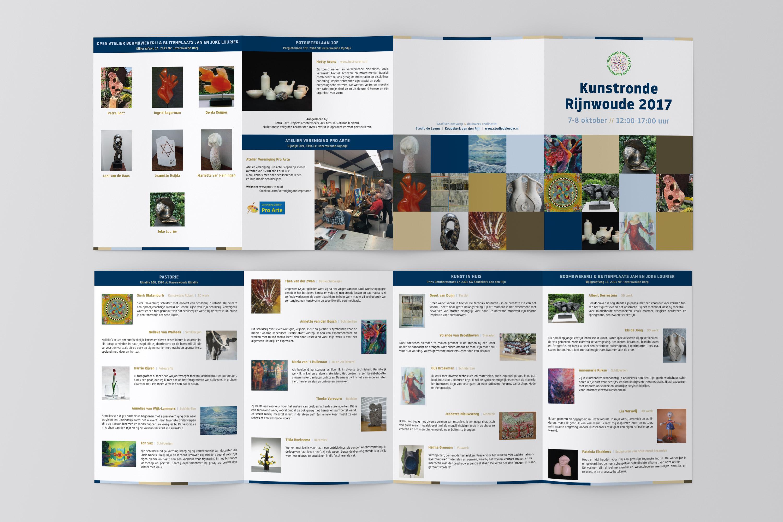 Kunstronde Rijnwoude 2017 - A5 folder