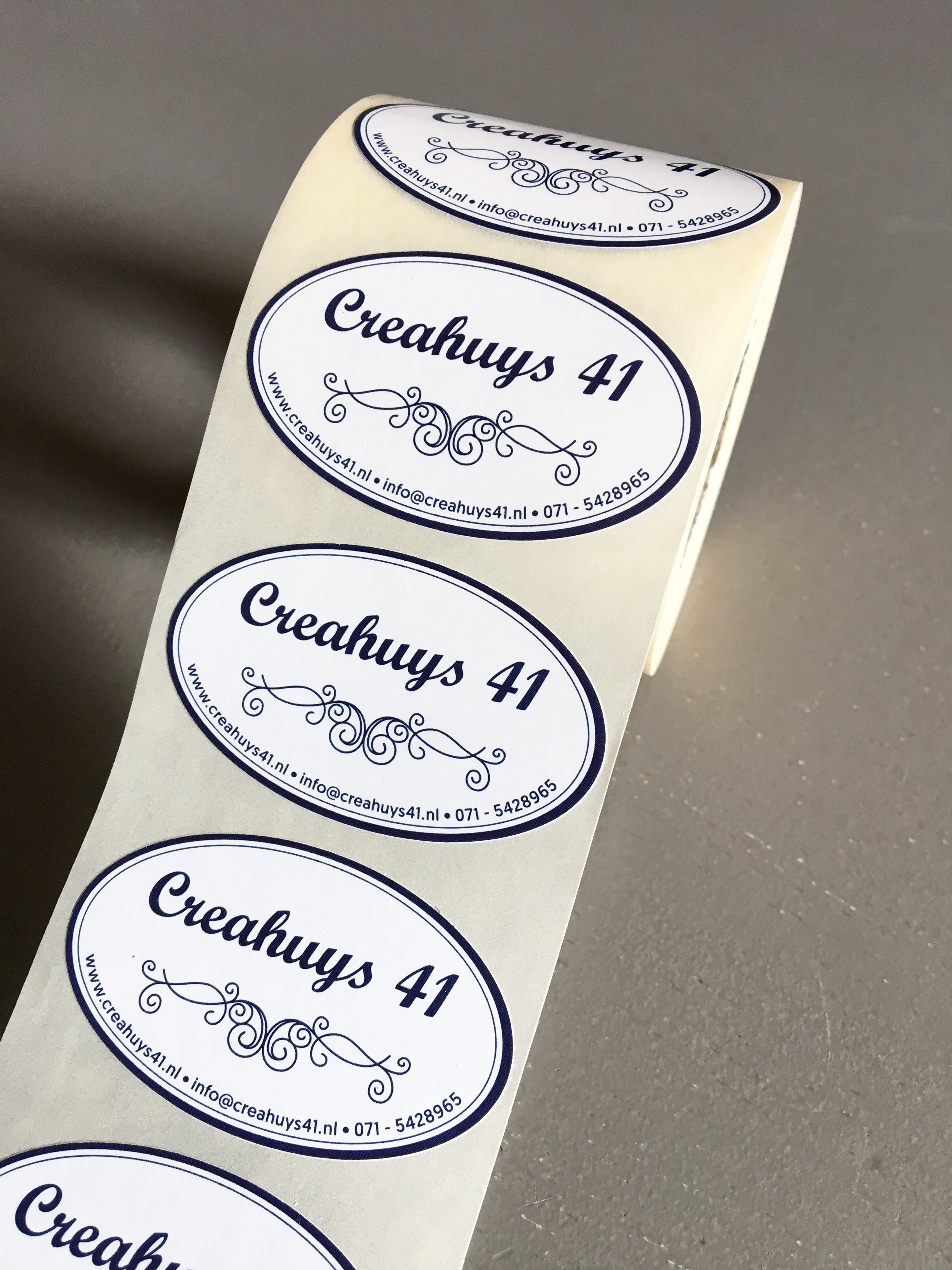 Ovale stickers (Creahuys 41)