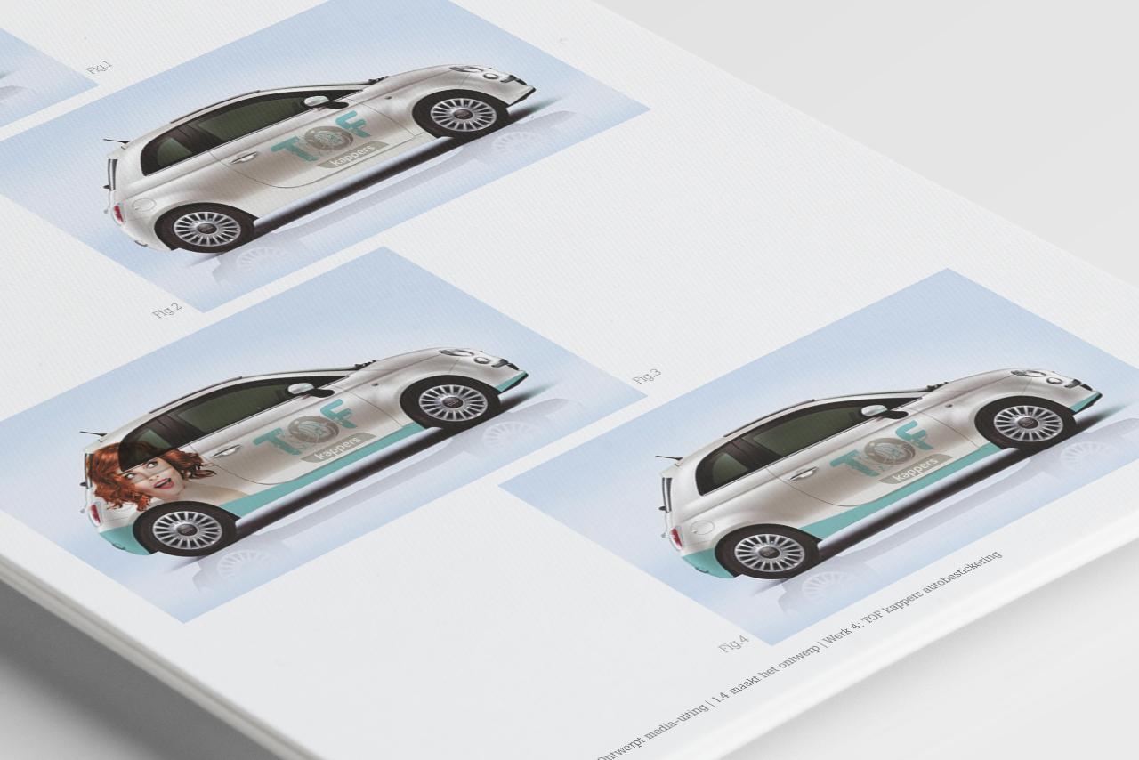 GLR Bewijzenboek TOF kappers autobelettering ontwerpen