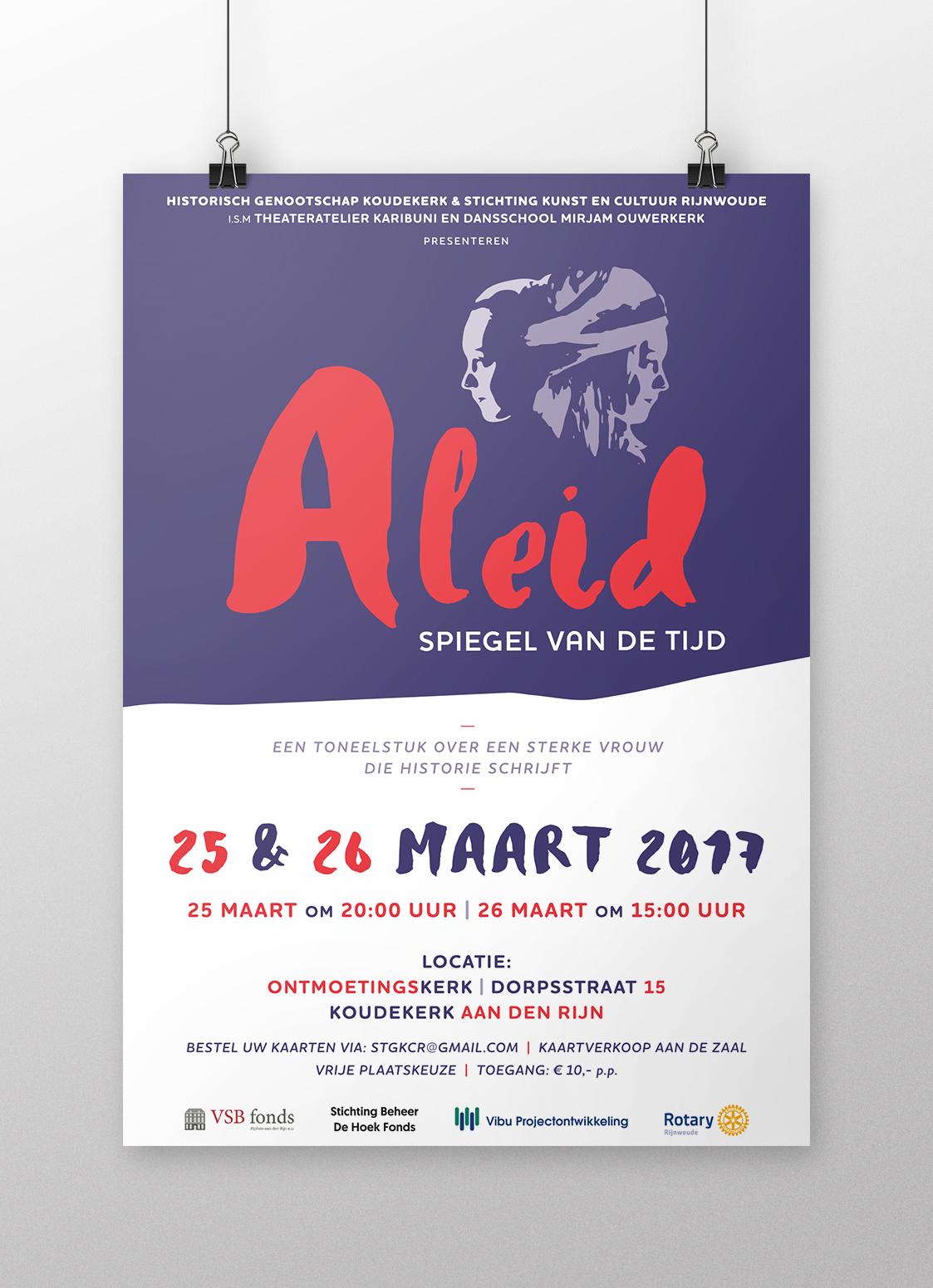 Theaterproductie 'Aleid - Spiegel van de tijd' poster
