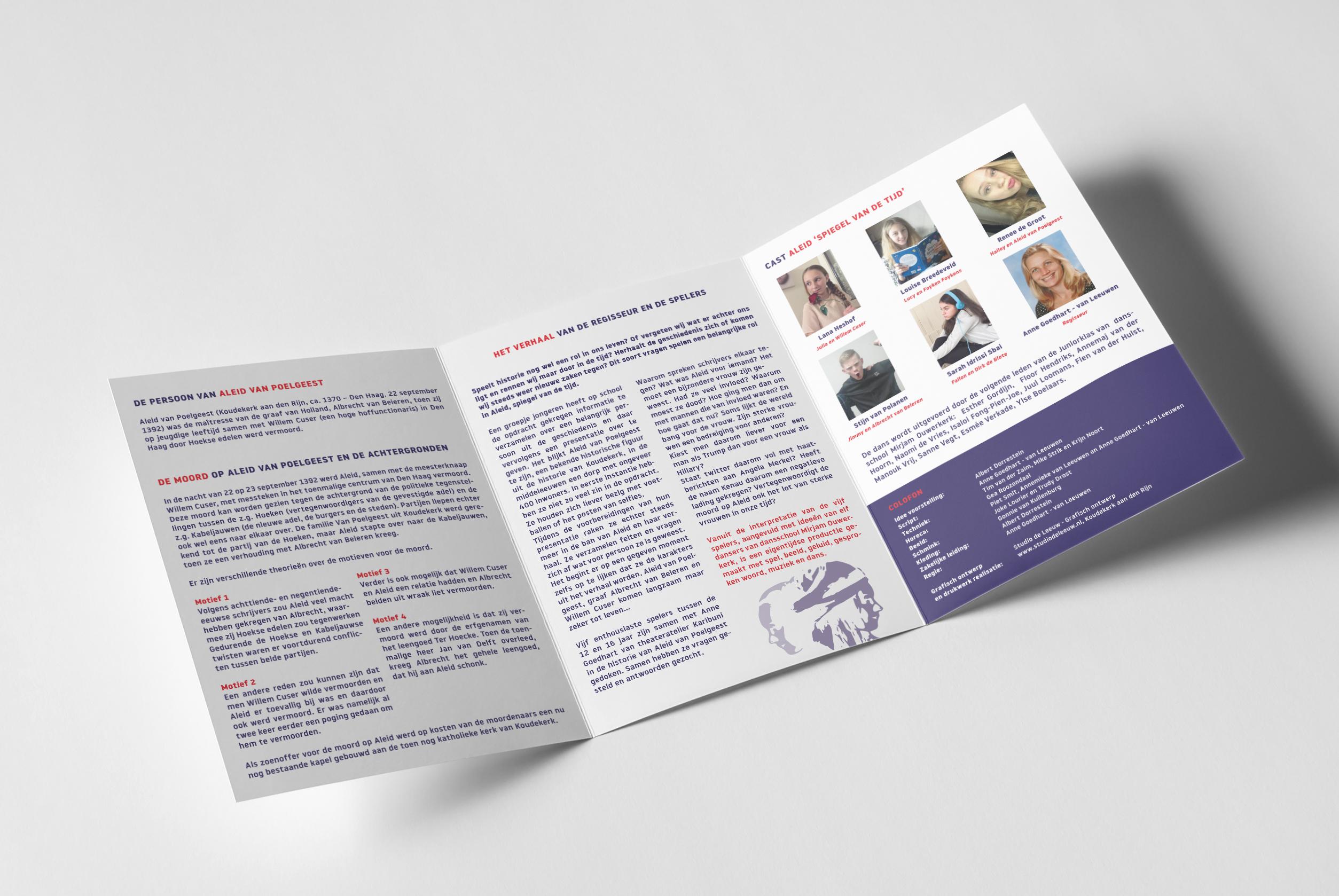 Theaterproductie 'Aleid - Spiegel van de tijd' programmaboekje