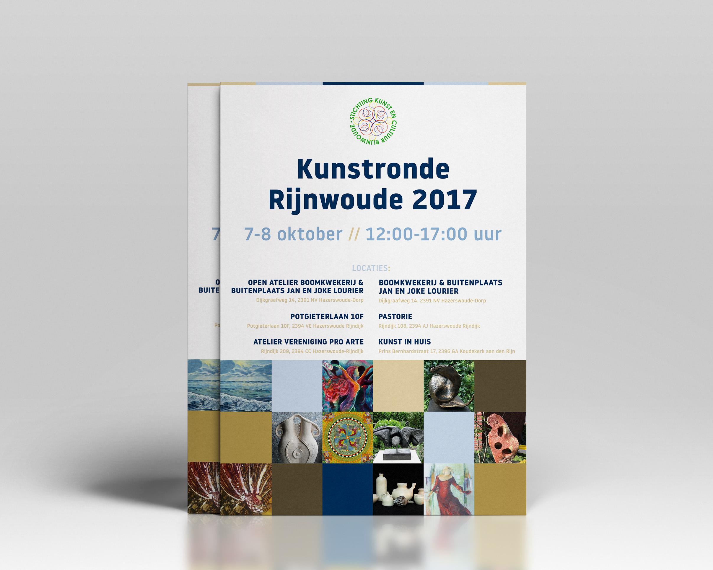 Kunstronde Rijnwoude 2017 - A3 poster