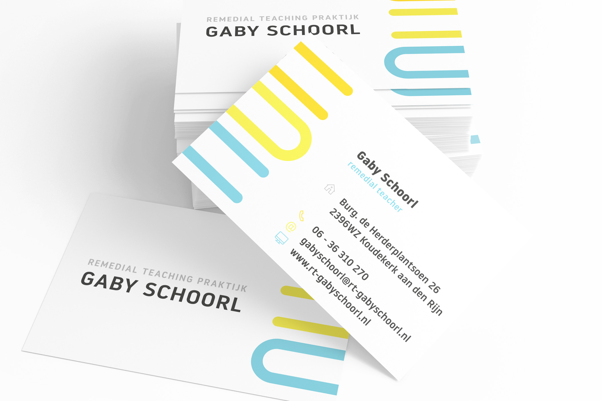 RT Praktijk Gaby Schoorl visitekaartje
