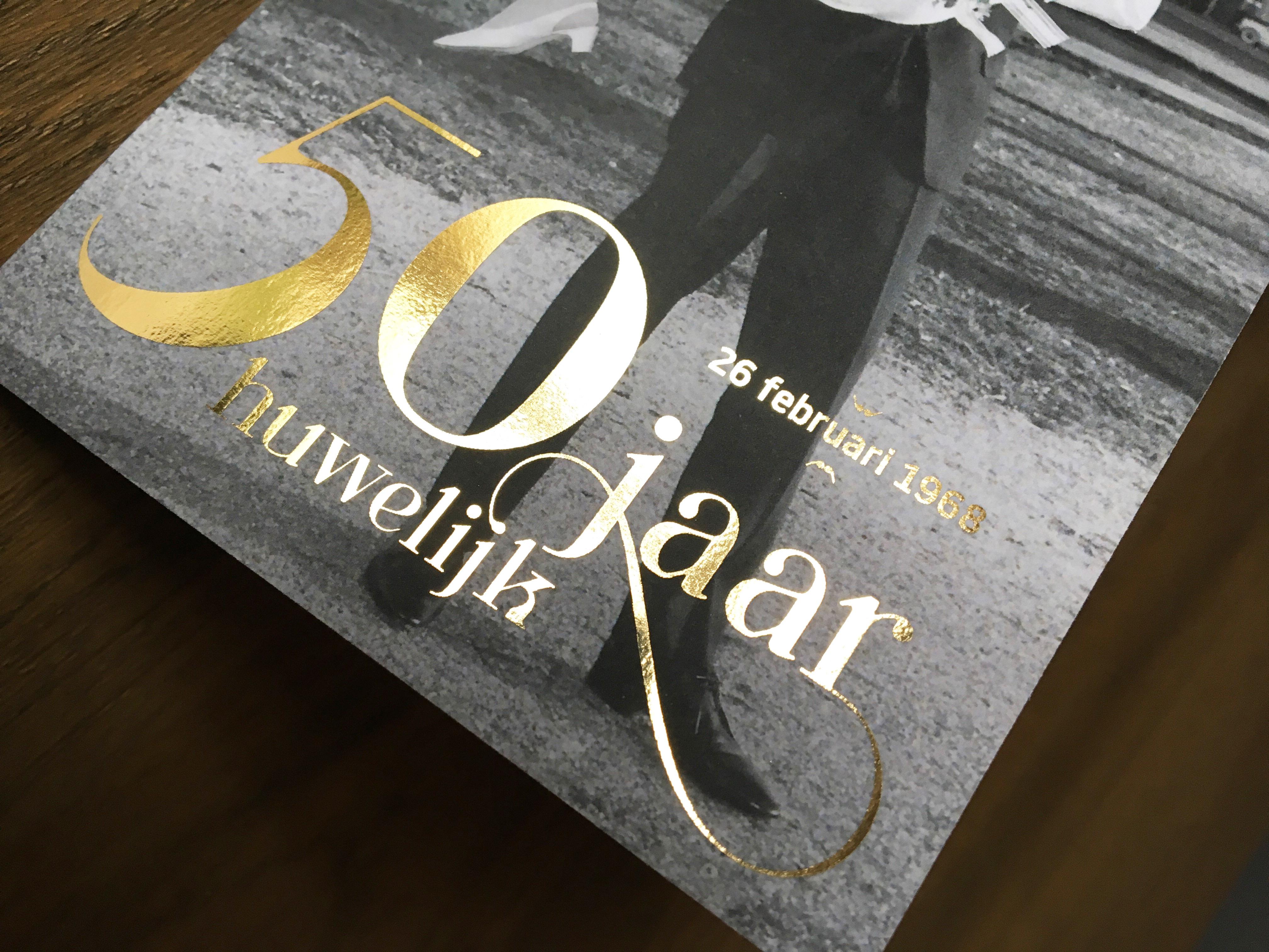 50 jarig gouden huwelijk